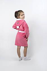 Халат детский Lotus - Зайка новый 3-4 года коралловый