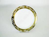 Тарелка Золотой цветок глубок 18х4 см керамика