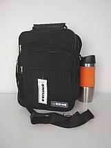 Мужская черная сумка через плечо 20*26*13 см, фото 2