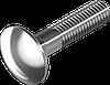 Болт М5х16 с полукруглой головкой и квадратным подголовником, сталь кл. пр. 4.6, ЦБ, DIN 603
