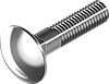 Болт М5х60 с полукруглой головкой и квадратным подголовником, сталь кл. пр. 4.6, ЦБ, DIN 603