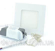 Светодиодный светильник 6w квадрат 4200k, точечный врезной потолочный Horoz Electric