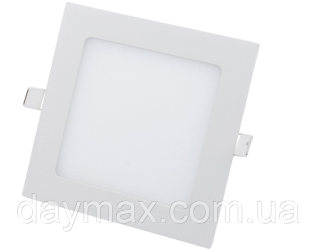 Светодиодный светильник 12w квадрат 4200k, точечный врезной потолочный Horoz Electric