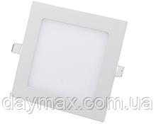 Светодиодный светильник 15w квадрат 6400k, точечный врезной потолочный Horoz Electric