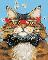 Художественный творческий набор, картина по номерам Кот на стиле, 40x50 см, «Art Story» (AS0400), фото 1