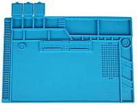 Силиконовый коврик 48х32 см для пайки мобильных телефонов Силіконовий килимок Настольный Мат Большой
