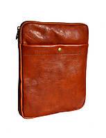 Мужская кожаная сумка-планшет 2043 Светло-коричневый