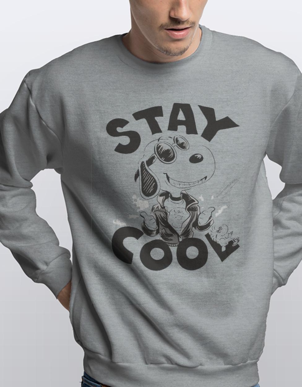 Світшот з принтом Stay Cool