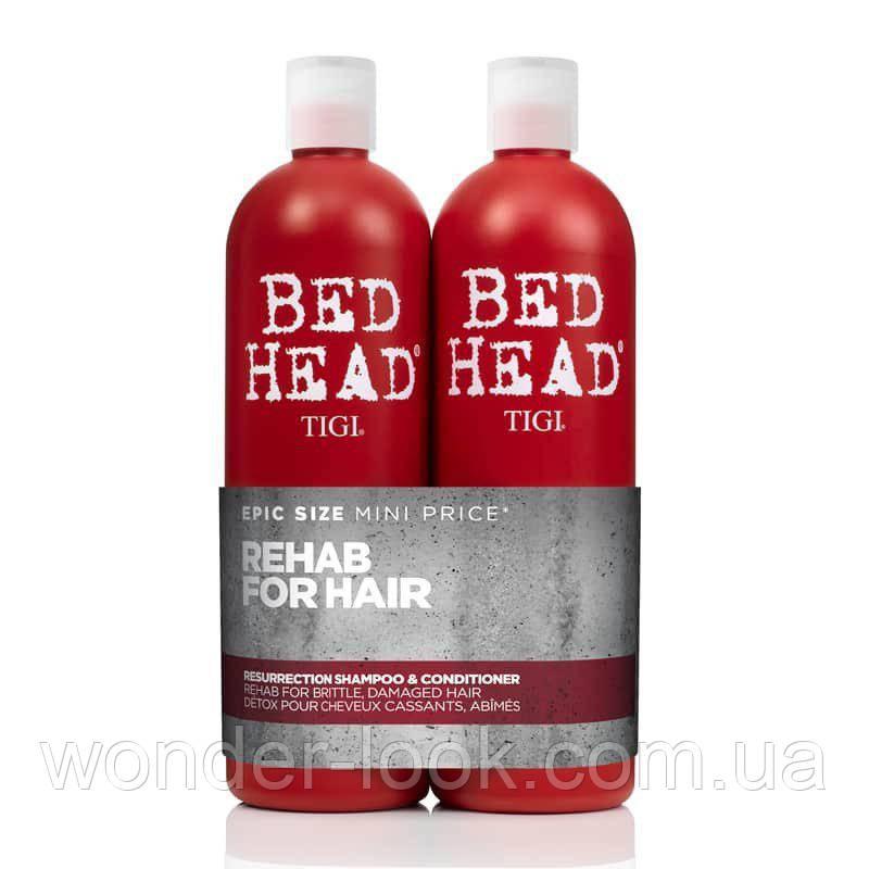 Tigi bed head urban antidotes resurrection tweens набір для відновлення ослабленого і пошкодженого волосся (шампунь