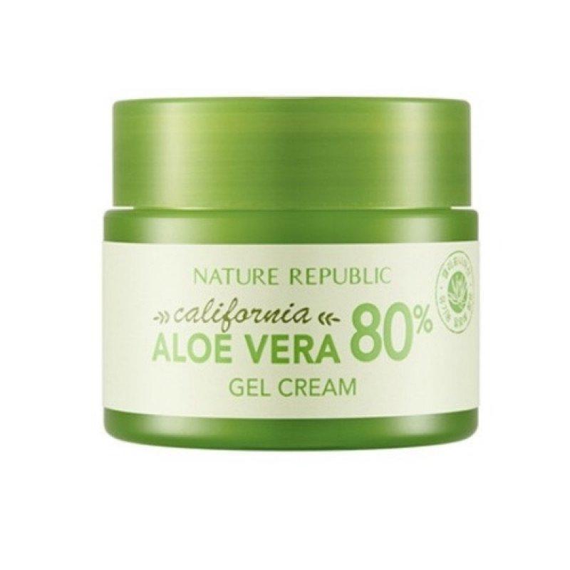 Гель-крем для лица с содержанием алоэ 80% Nature Republic California Aloe Vera 80% Gel Cream 50 мл