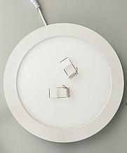 Светодиодный Led светильник 12w круг 6400k, точечный врезной потолочный Horoz Electric