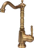 """Смеситель воды FALA для кухонной раковины """"RETRO BRONZE 3"""" с шаровым регулятором - VOREL"""