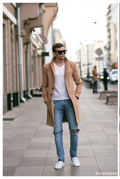 Мужское модное пальто ЕС490