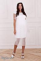 Белое свадебное на роспись платье для беременных и кормящих мам размер 42 44 46 48 50