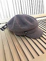 Модная женская кепи, картуз, шерстяная кепка, шапка с козырьком