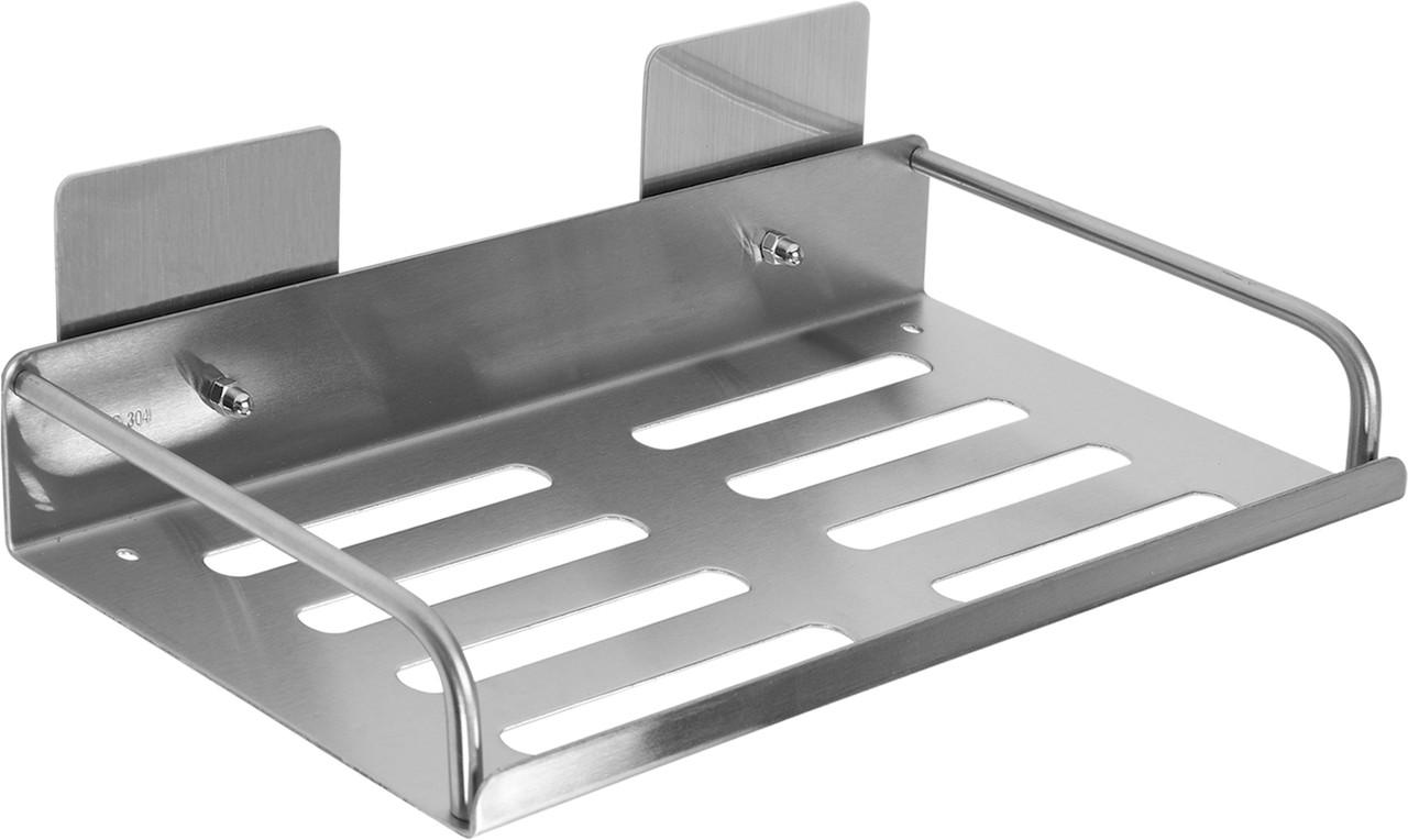 Полка из нержавеющей стали для санузла установка на скотч 30 См - Fala