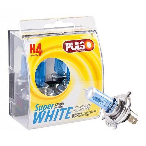 Лампы PULSO/галогенные H4/P43T 24v75/70w super white/plastic box
