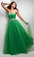 Длинное вечернее платье из фатина
