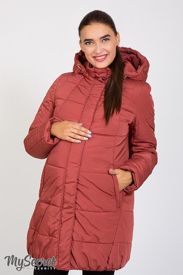 Куртка зимова дуже тепла на холософте для вагітних розміри від 42 до 52