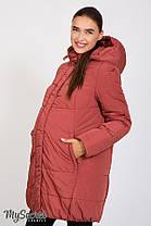 Куртка зимняя очень теплая на холософте для беременных размеры от 42 до 52, фото 2