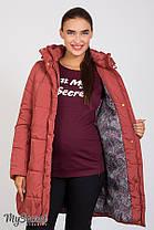 Куртка зимова дуже тепла на холософте для вагітних розміри від 42 до 52, фото 3