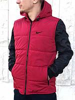 Красная мужская безрукавка в стиле Nike, красная спортивная жилетка, Реплика ААА