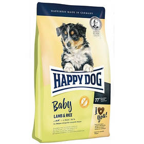 HAPPY DOG  Baby Lamb & Rice корм для щенков всех пород безглютеновый с ягненком, 10 кг