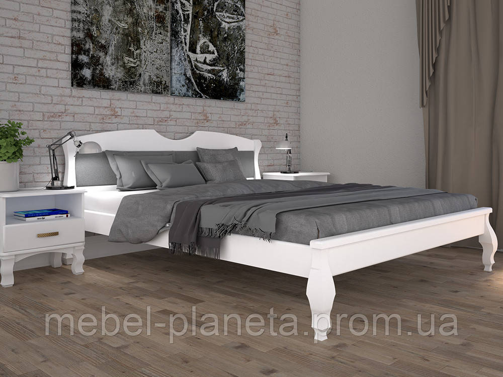 """Кровать из натурального дерева """"Корона 3"""" Тис"""