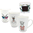 Чашка керамическая Хипстер 350 мл в подарочной упаковке 054-350-12