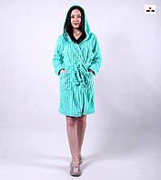 Махровый красивый женский халат на запах р.42-54