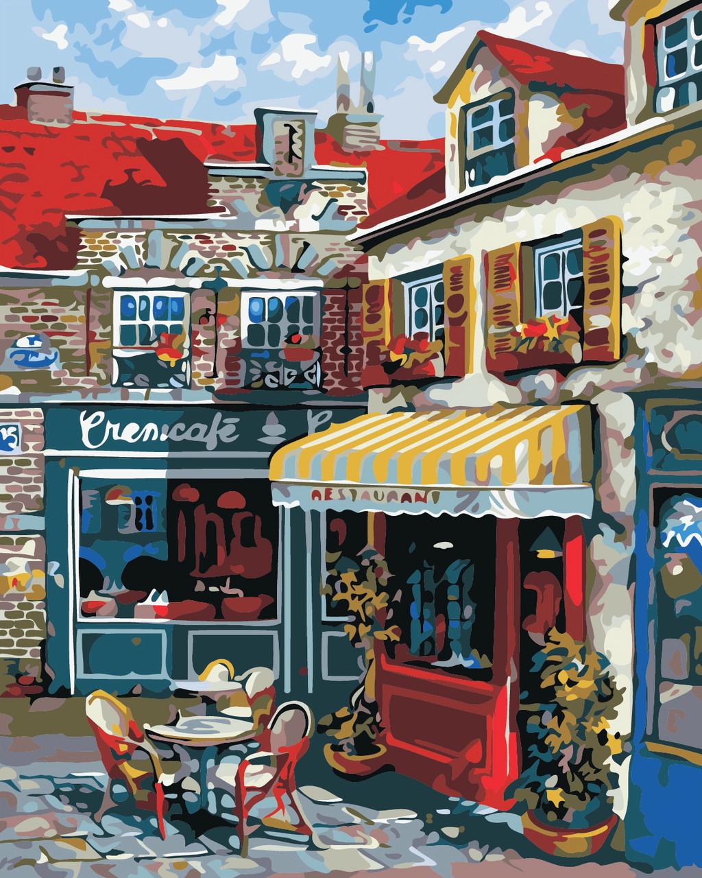 Художественный творческий набор, картина по номерам Провинциальное кафе, 40x50 см, «Art Story» (AS0358)