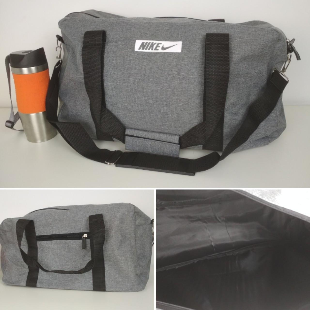 Спортивная текстильная сумка с двумя ручками и плечевым ремнем 47*28*17 см