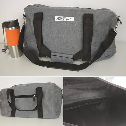 Спортивная текстильная сумка с двумя ручками и плечевым ремнем 47*28*17 см, фото 2