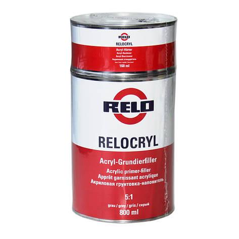 Грунт акриловый Relocryl (MIPA) HS 5+1 комплект 960мл  серый, фото 2
