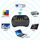 Беспроводная мини клавиатура для SMART TV телевизора с ТАЧПАДОМ и ПОДСВЕТКОЙ, Смарт ТВ приставки блютус, фото 5