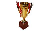 Кубок C-5007C (металл, пластик, высота 26см, d чаша 8см, золото)