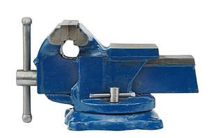 Тиски слесарные вращающиеся с наковальней , 125 мм - VOREL
