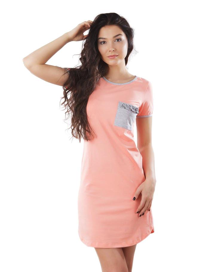 e5c011241401 Красивая ночная сорочка с короткими рукавами (XS-3XL) 409 грн ...