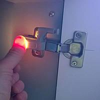Автоматическая подсветка в шкаф при открытии двери (на петли), серая