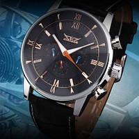 Механічні чоловічі наручні годинники JARAGAR з автопідзаводом і календарем, фото 1