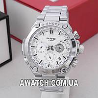 Мужские кварцевые наручные часы Casio G-Shock 5255-1 / Касио на металлическом браслете серебристого цвета
