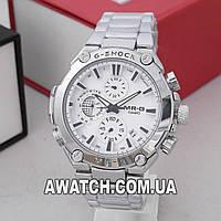 Мужские кварцевые наручные часы Casio G-Shock 5255-2 / Касио на металлическом браслете серебристого цвета