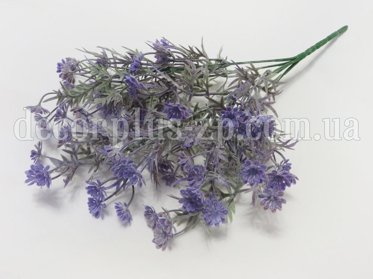 Букетик лютиков полевых фиолетовый, с напылением