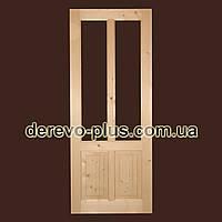 Двері з масиву дерева 80см (під скло) s_0180