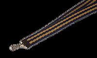Ленты для бейджей 10 мм Синий с тёмно бежевыми полосками