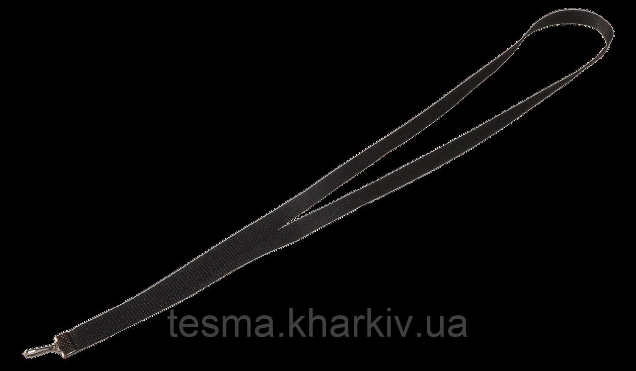 Ленты для бейджей 10 мм Чёрный репс