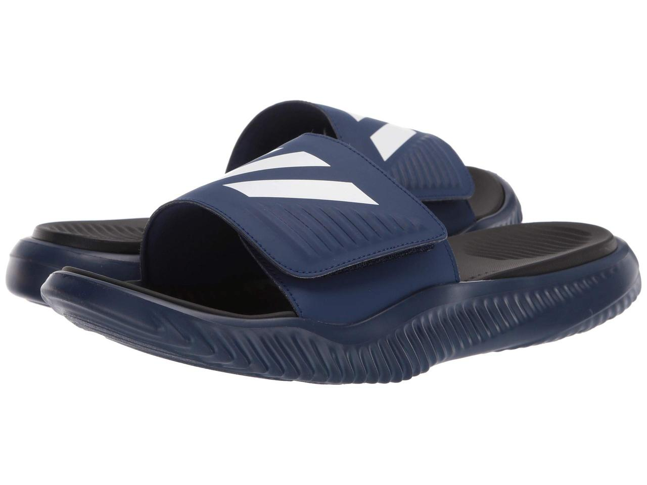 184a210a58f Сандали/Вьетнамки (Оригинал) adidas Alphabounce Basketball Slides Dark  Blue/Footwear White/Core Black