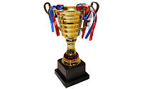 Кубок C-8319C (металл, пластик, высота 23,5см, чаша 11см, золото)