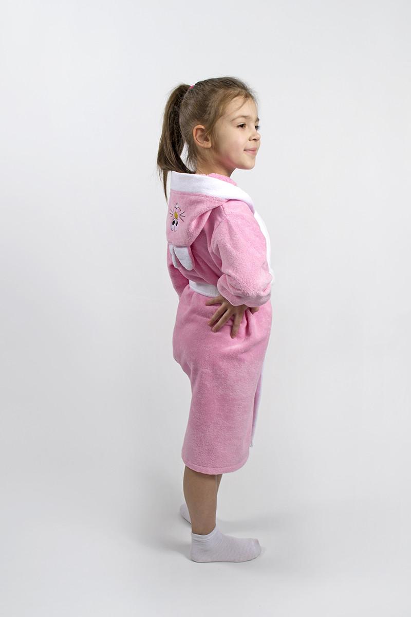 Халат детский Lotus - Зайка новый 9-10 лет розовый