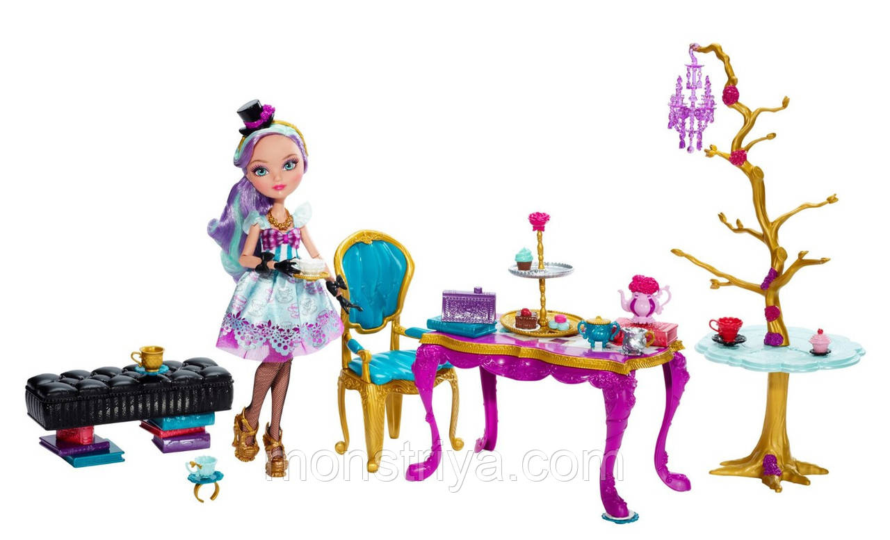 Набор Ever After High Hat-Tastic Madeline Hatter Doll and Party Display Кукла Мэдлин Хэттер с набором Чайная
